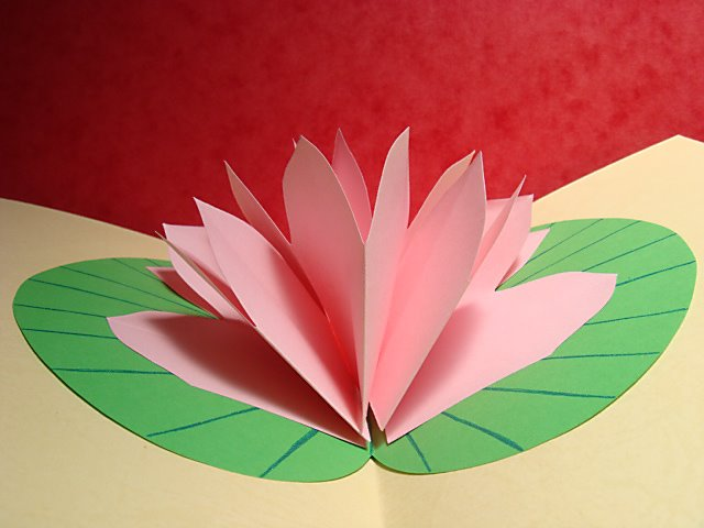 Lotus flower pop up card mightylinksfo