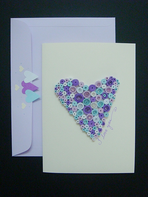 handmade greeting cards for teachers. I just love to do this quilled heart card! ;) It has become one of my