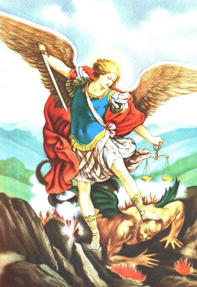 Tracce di infinito preghiera a san michele arcangelo for Angeli da stampare e colorare