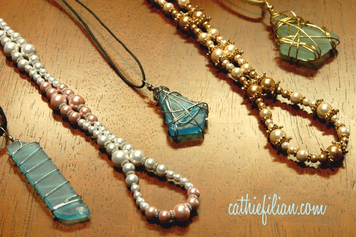 Cathie filian make it beach glass pendants and magnetic pearl make it beach glass pendants and magnetic pearl bracelets aloadofball Images