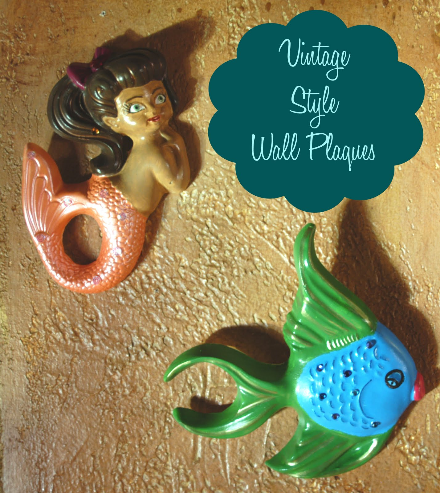 Make it: Vintage Style Wall Mermaids & Fish