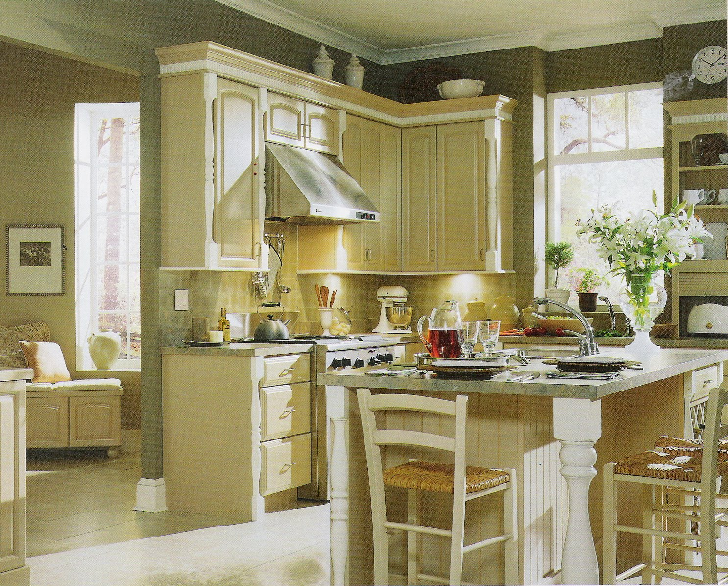 The exciting Gallery kitchen colors with oak cabinets pics