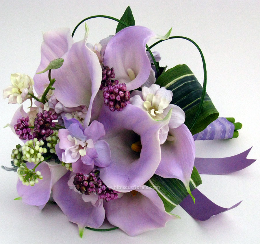 Earthy Lavender Wedding Bouquet - Do It Yourself Weddings Guide