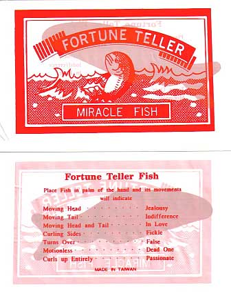 Party bag filler the classic fortune telling fish red ebay for Fortune teller fish