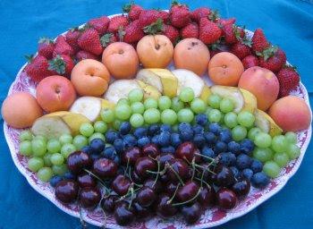 أكبر ملف لأروع و أجمل و أحدث الطرق لتقديم و تزيين الفواكه (الديسير) RainbowFruitPlatter.