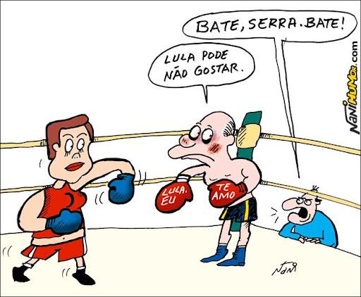 Serra, Lula e Dilma