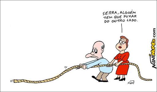 José Serra, Dilma Roussef e a polarização