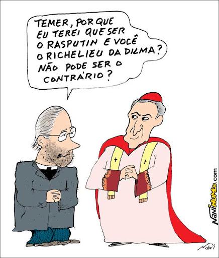 Eminências pardas em conflito. Michel Temer Raspoutin e Dilma