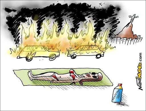 Pegando um bronze no Rio... Carros incendiados no Rio de Janeiro. UPP