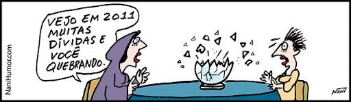 A vidente e suas previsões para 2011