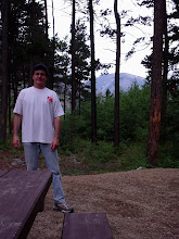 The Editor at a Campground in South Central Montana 2009