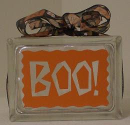 Lettering decor glass block ideas - Glass block decoration ideas ...