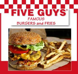The Joyful Table: Dining Out: Five Guys Famous Burgers and Fries