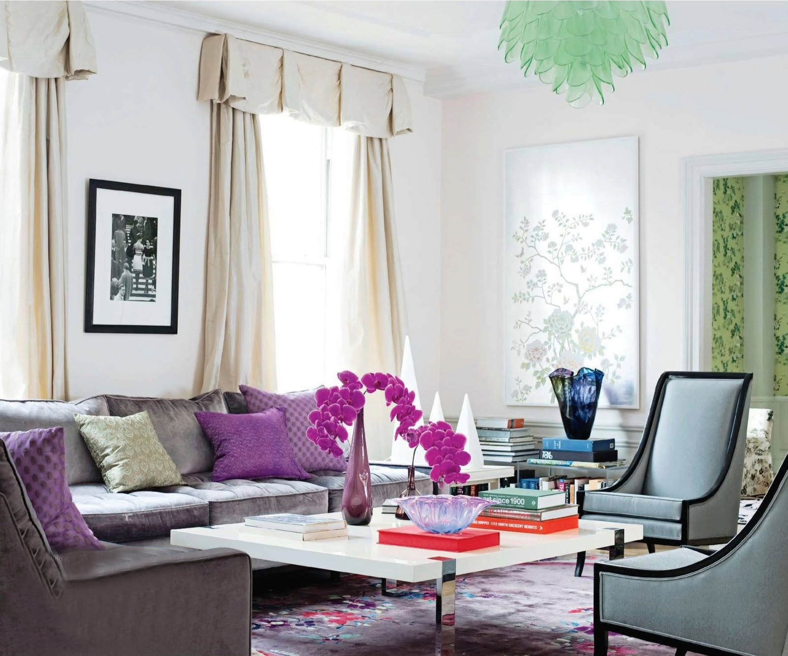 Purple And Grey Living Room Decorating Bright Living Room Decorating Mydesignexpous