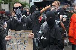 Protestos contra o mundo corrupto