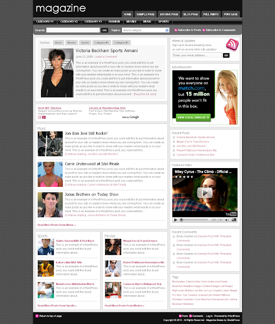 Studiopress Magazine Wordpress Theme
