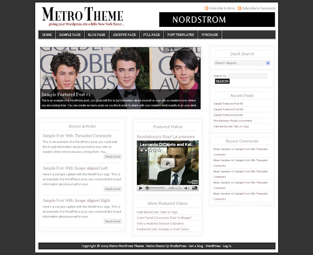 Image for Studiopress Metro Theme