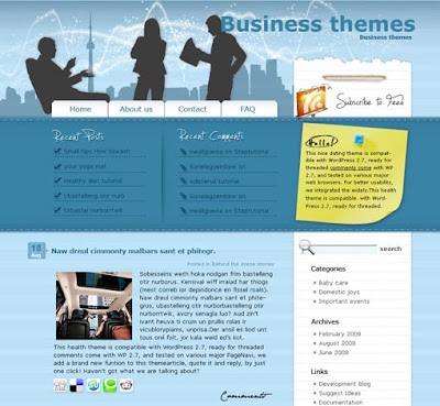 Business Talk wordpress theme free download.