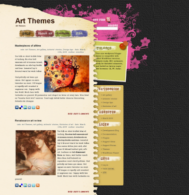 Dark Flower - art wordpress theme free download.