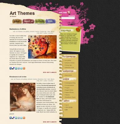 Dark Flower - art wordpress theme free download.