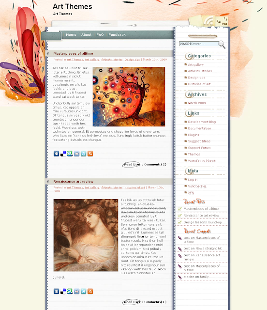 Harmony - art wordpress theme free download.