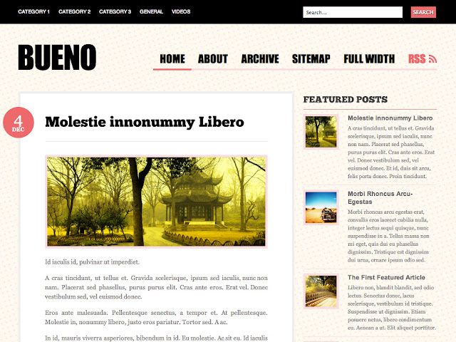 Bueno Wordpress Theme by WooThemes Free Download.