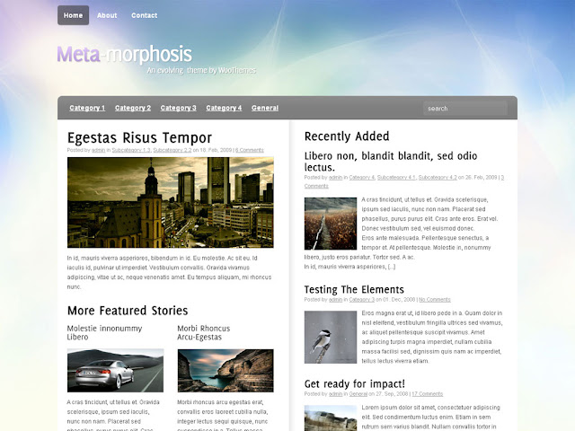 Meta-Morphosis Wordpress by  woothemes Theme Free Download.