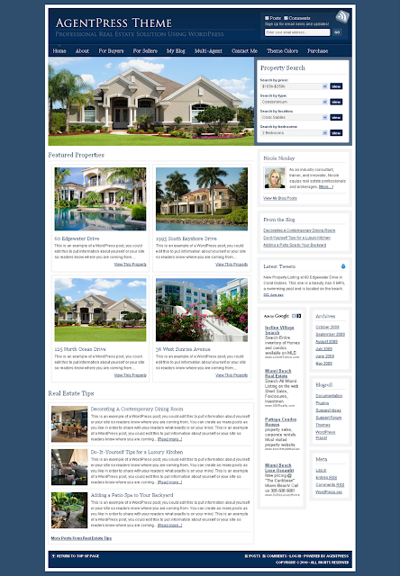 AgentPress Real Estate Wordpress Theme Free Download.