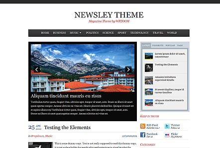 Newsley Wordpress Magazine Theme by WPZOOM Free Download.
