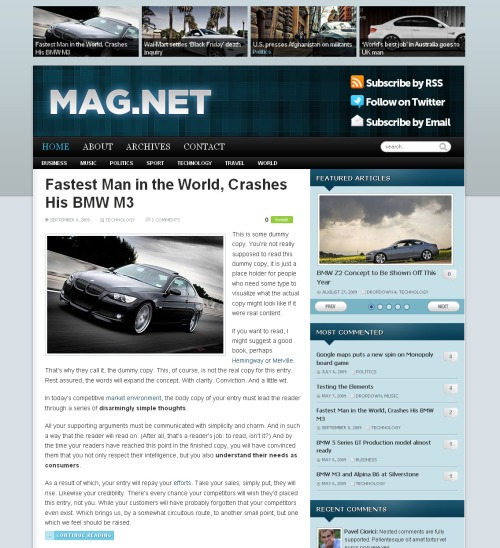 Magnet Wordpress Theme by WPZoom Free Download.