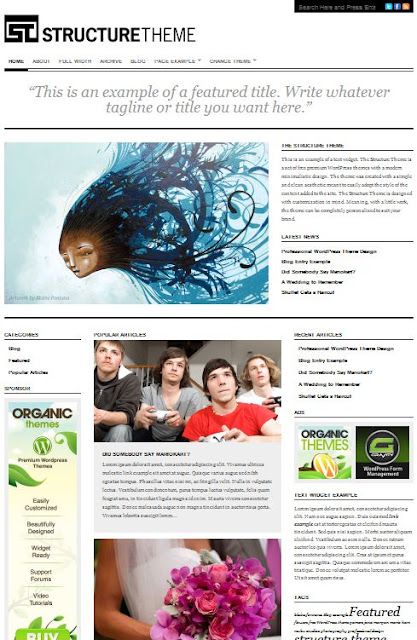 Structure Wordpress Theme by OrganicThemes Free Download.