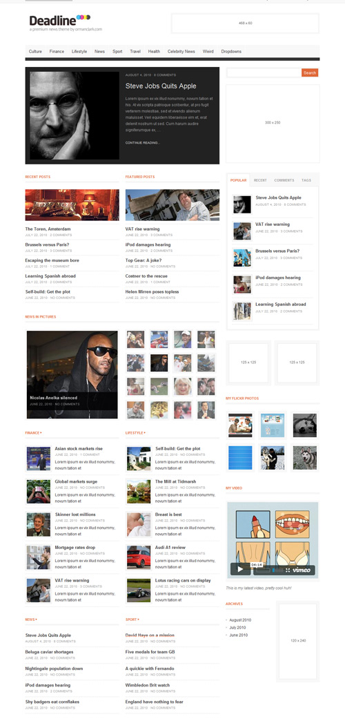 Deadline news or Magazine Wordpress Theme Free Download by Themeforest.