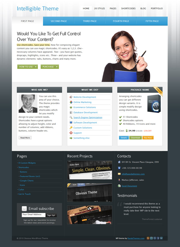 Intelligible Wordpress Theme Free Download by ThemeForest.