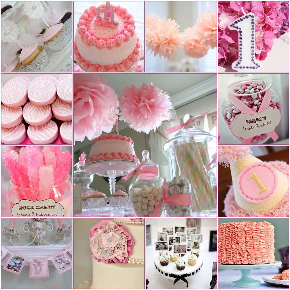 Madly stylish events sweet first birthday inspiration for Baby girl birthday party decoration ideas