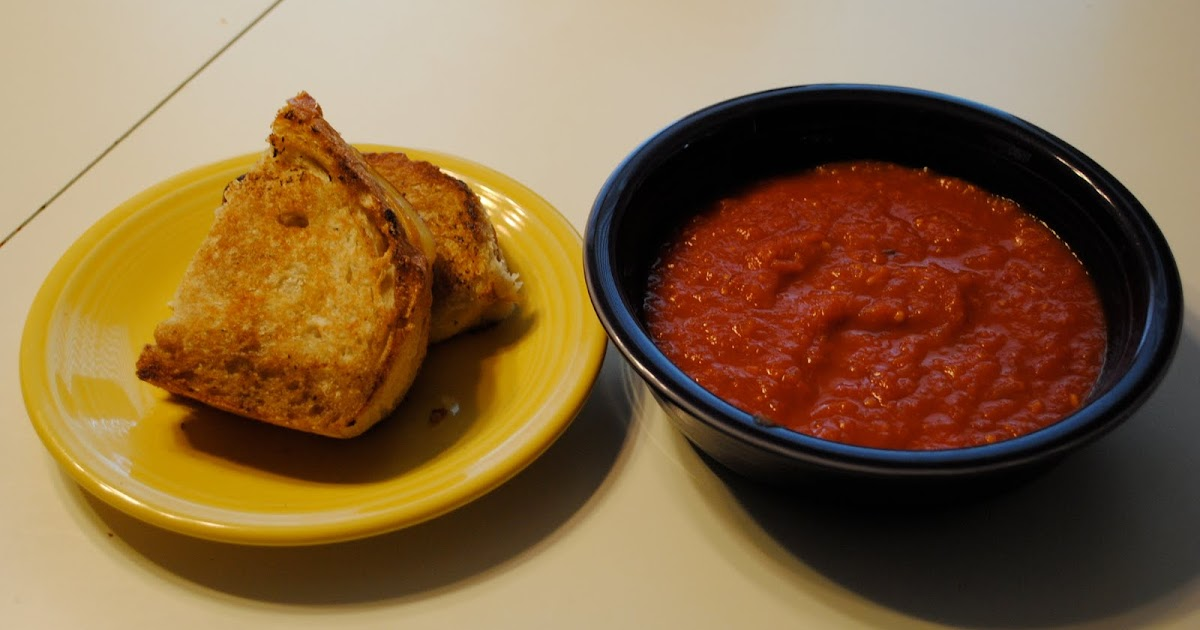 Cooking Pink: Grown-Up Grilled Cheese & Tomato Soup