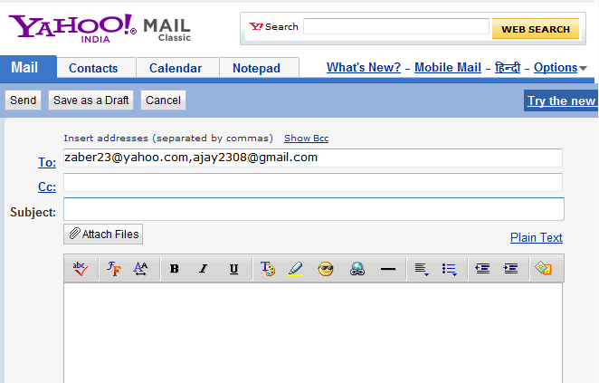 Tricks & Fun: Finding IP address through Yahoo! Mail