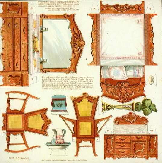 1000 images about dollhouse cutouts furnishings on