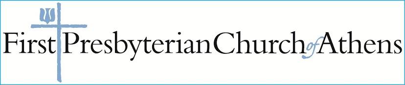 First Presbyterian Church of Athens Blog