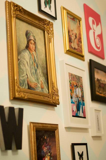 Caitlin Wilson's Chevron Gallery Wall