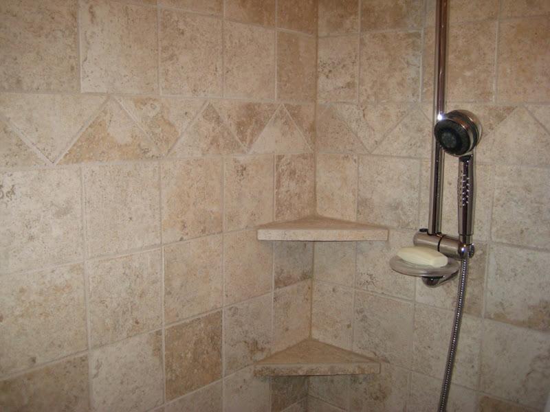 Tile Shower Shelves Corner