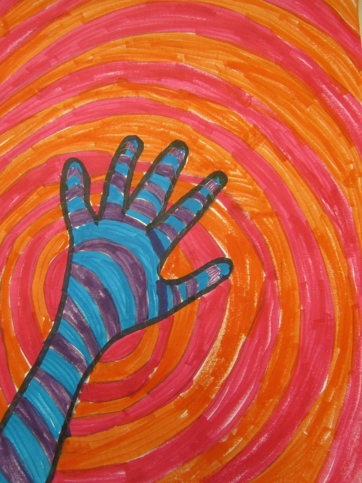 Crafts For Second Graders http://thinkcreateart.blogspot.com/2011/02/warm-and-cool-color-hands-2nd-grade.html