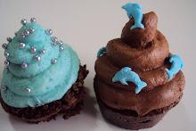 También hubo cupcakes marinos...