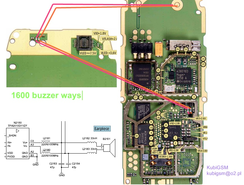 mobile repairing pictures nokia 1110i 1112 1600 ringer buzzer sulotion rh worldmobilerepair blogspot com