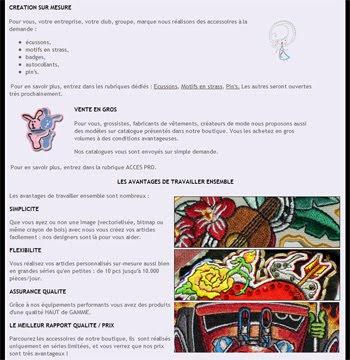 Création articles personnalisés