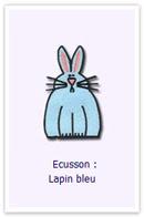 Customize.fr Ecusson Lapin bleu