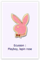 Customize.fr Ecusson Lapin rose