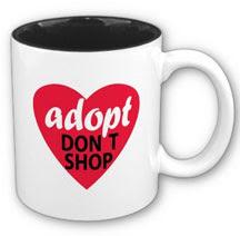 Adopt Don't Shop mug