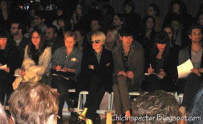 Kate Lanphear front row at Karen Walker