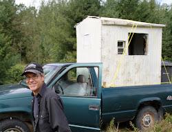 Cabane de pêche mobile