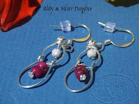 Ruby Danglies Earrings